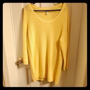 Croft & Barrow yellow knit sweater